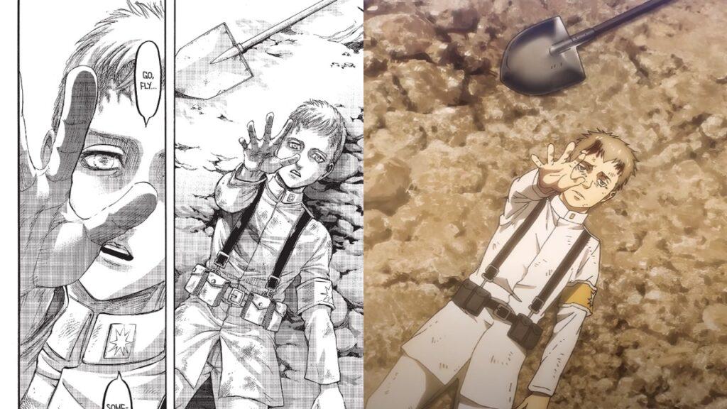 escena censorada de attack on titan